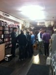 On the Friday night we held a launch party for Stephen Burger's new graphic novel Talk!