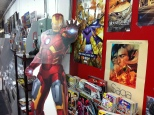 Iron Man welcomes fans for FCBD at the top of the stairs.