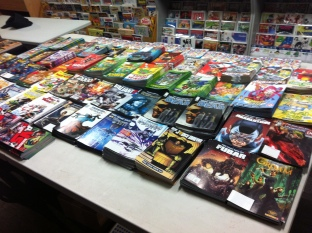 Getting the free comics ready.