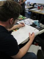 David Bishop sketching