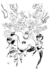 Incredibles cover art by Marcio Takara